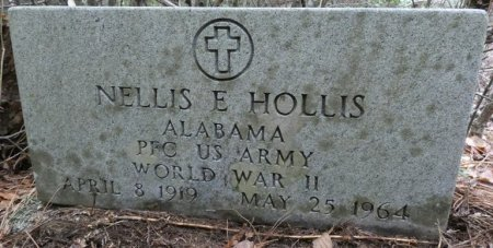 HOLLIS (VETERAN WWII), NELLIS EVUSTUS (NEW) - Colbert County, Alabama   NELLIS EVUSTUS (NEW) HOLLIS (VETERAN WWII) - Alabama Gravestone Photos