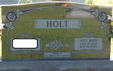 HOLT, ALICE MARIE - Colbert County, Alabama | ALICE MARIE HOLT - Alabama Gravestone Photos