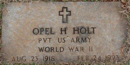 HOLT (VETERAN WWII), OPEL H - Colbert County, Alabama | OPEL H HOLT (VETERAN WWII) - Alabama Gravestone Photos
