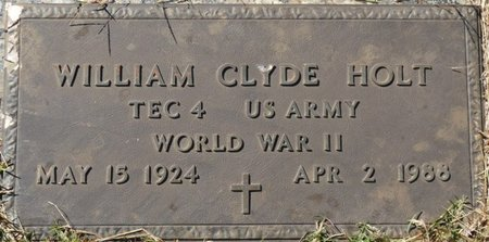 HOLT (VETERAN WWII), WILLIAM CLYDE - Colbert County, Alabama   WILLIAM CLYDE HOLT (VETERAN WWII) - Alabama Gravestone Photos