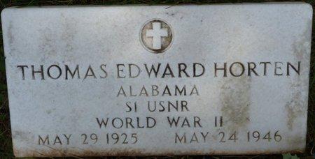 HORTEN (VETERAN WWII), THOMAS EDWARD - Colbert County, Alabama | THOMAS EDWARD HORTEN (VETERAN WWII) - Alabama Gravestone Photos