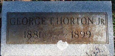 HORTON JR., GEORGE T - Colbert County, Alabama   GEORGE T HORTON JR. - Alabama Gravestone Photos