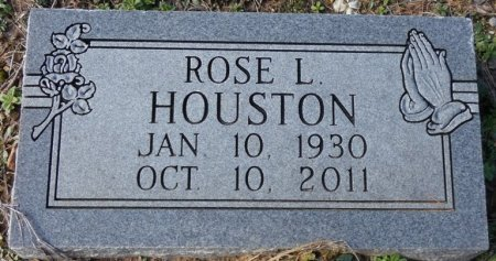 HOUSTON, ROSE L - Colbert County, Alabama | ROSE L HOUSTON - Alabama Gravestone Photos
