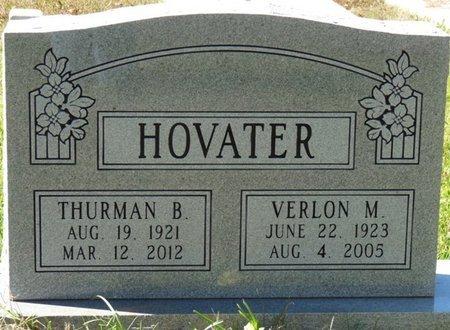 HOVATER, THURMAN B - Colbert County, Alabama   THURMAN B HOVATER - Alabama Gravestone Photos