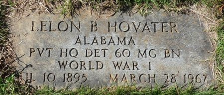 HOVATER (VETERAN WW), LELON B - Colbert County, Alabama | LELON B HOVATER (VETERAN WW) - Alabama Gravestone Photos