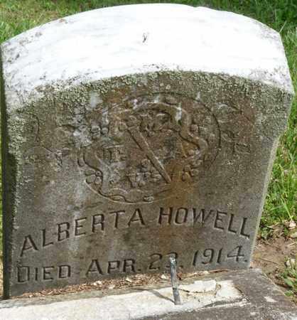 HOWELL, ALBERTA - Colbert County, Alabama   ALBERTA HOWELL - Alabama Gravestone Photos