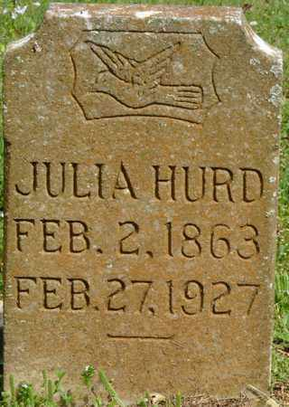 HURD, JULIA - Colbert County, Alabama | JULIA HURD - Alabama Gravestone Photos
