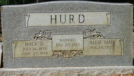 WILDER HURD, ALLIE MAE - Colbert County, Alabama | ALLIE MAE WILDER HURD - Alabama Gravestone Photos