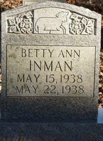 INMAN, BETTY ANN - Colbert County, Alabama | BETTY ANN INMAN - Alabama Gravestone Photos