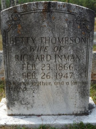 "THOMPSON INMAN, ELIZABETH ""BETTY"" - Colbert County, Alabama | ELIZABETH ""BETTY"" THOMPSON INMAN - Alabama Gravestone Photos"