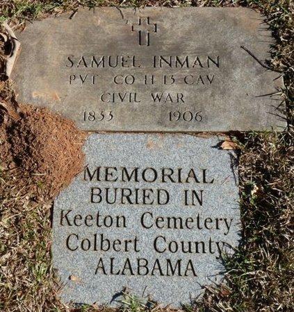 INMAN (VETERAN CIVIL WAR), SAMUEL - Colbert County, Alabama | SAMUEL INMAN (VETERAN CIVIL WAR) - Alabama Gravestone Photos