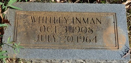 INMAN, WHITLEY - Colbert County, Alabama | WHITLEY INMAN - Alabama Gravestone Photos