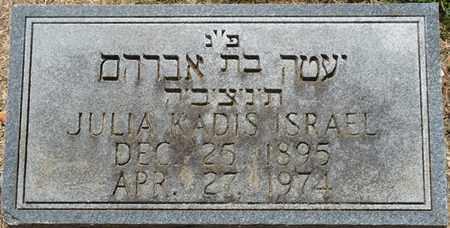 KADIS ISRAEL, JULIA - Colbert County, Alabama | JULIA KADIS ISRAEL - Alabama Gravestone Photos