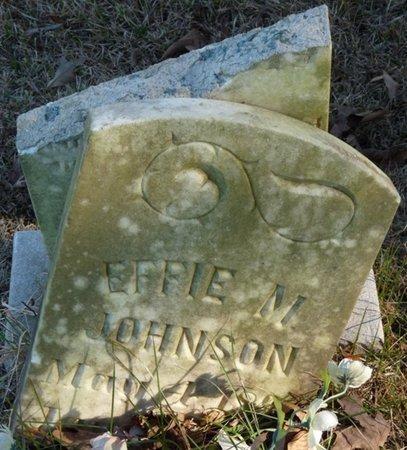 JOHNSON, EFFIE M - Colbert County, Alabama | EFFIE M JOHNSON - Alabama Gravestone Photos