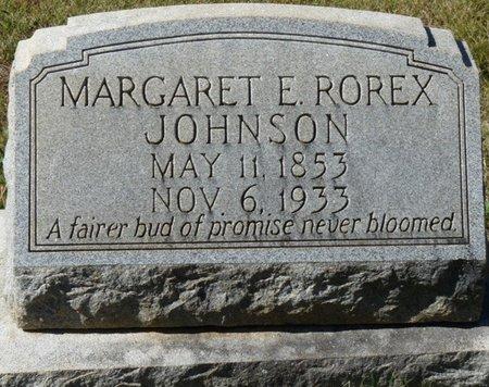 ROREX JOHNSON, MARGARET E - Colbert County, Alabama   MARGARET E ROREX JOHNSON - Alabama Gravestone Photos