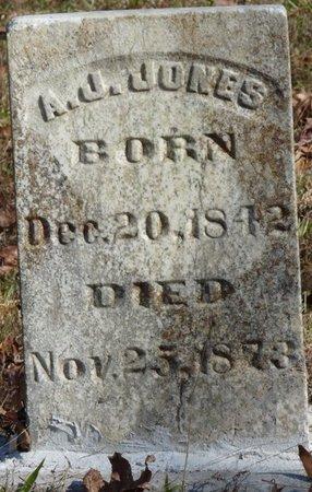 JONES, A.J. - Colbert County, Alabama | A.J. JONES - Alabama Gravestone Photos