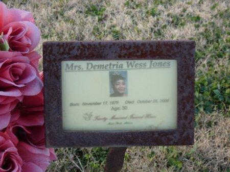 JONES, DEMETRIA WESS - Colbert County, Alabama | DEMETRIA WESS JONES - Alabama Gravestone Photos