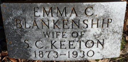 BLANKENSHIP KEETON, EMMA C - Colbert County, Alabama | EMMA C BLANKENSHIP KEETON - Alabama Gravestone Photos