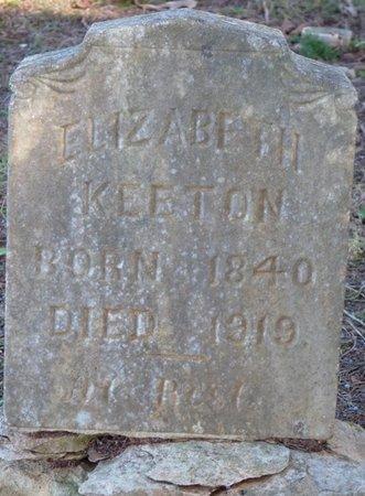 KEETON, ELIZABETH - Colbert County, Alabama | ELIZABETH KEETON - Alabama Gravestone Photos