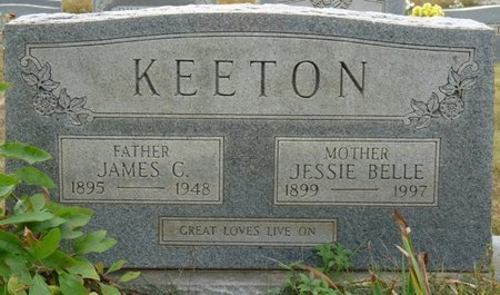 KEETON, JESSIE BELLE - Colbert County, Alabama | JESSIE BELLE KEETON - Alabama Gravestone Photos