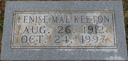 KEETON, LENISE MAE - Colbert County, Alabama | LENISE MAE KEETON - Alabama Gravestone Photos
