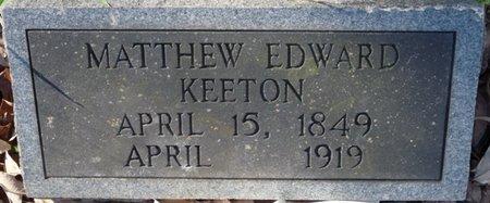 KEETON, MATTHEW EDWARD - Colbert County, Alabama | MATTHEW EDWARD KEETON - Alabama Gravestone Photos