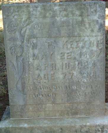 KEETON, NATHANIEL P - Colbert County, Alabama | NATHANIEL P KEETON - Alabama Gravestone Photos