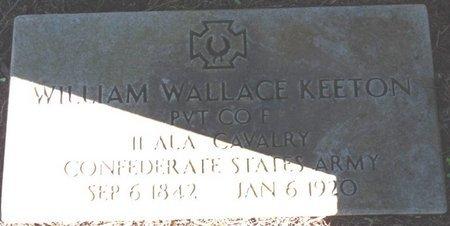KEETON (VETERAN CSA), WILLIAM WALLACE - Colbert County, Alabama | WILLIAM WALLACE KEETON (VETERAN CSA) - Alabama Gravestone Photos
