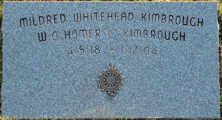 WHITEHEAD KIMBROUGH, MILDRED - Colbert County, Alabama   MILDRED WHITEHEAD KIMBROUGH - Alabama Gravestone Photos