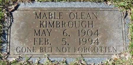 KIMBROUGH, MABLE OLEAN - Colbert County, Alabama | MABLE OLEAN KIMBROUGH - Alabama Gravestone Photos