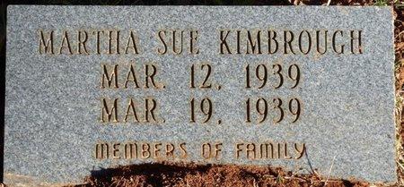 KIMBROUGH, MARTHA SUE - Colbert County, Alabama | MARTHA SUE KIMBROUGH - Alabama Gravestone Photos