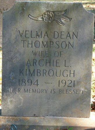 THOMPSON KIMBROUGH, VELMA DEAN - Colbert County, Alabama | VELMA DEAN THOMPSON KIMBROUGH - Alabama Gravestone Photos
