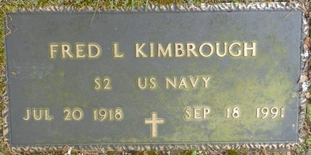 KIMBROUGH (VETERAN), FRED L - Colbert County, Alabama | FRED L KIMBROUGH (VETERAN) - Alabama Gravestone Photos