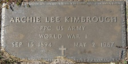KIMBROUGH (VETERAN WWI), ARCHIE LEE - Colbert County, Alabama | ARCHIE LEE KIMBROUGH (VETERAN WWI) - Alabama Gravestone Photos