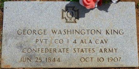 KING (VETERAN CSA), GEORGE WASHINGTON - Colbert County, Alabama | GEORGE WASHINGTON KING (VETERAN CSA) - Alabama Gravestone Photos