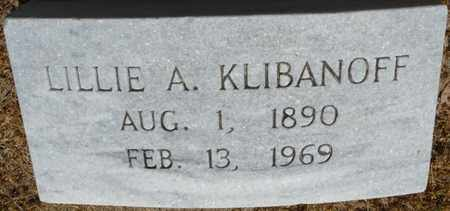 KLIBANOFF, LILLIE A - Colbert County, Alabama | LILLIE A KLIBANOFF - Alabama Gravestone Photos