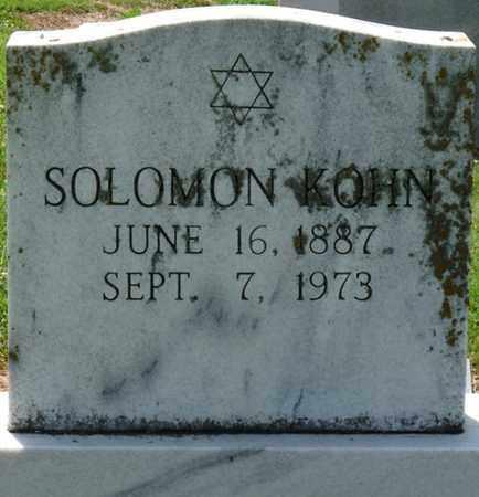 KOHN, SOLOMON - Colbert County, Alabama   SOLOMON KOHN - Alabama Gravestone Photos