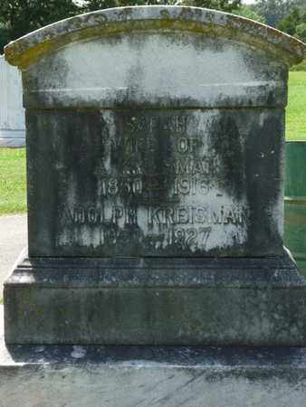 KREISMAN, SARAH - Colbert County, Alabama | SARAH KREISMAN - Alabama Gravestone Photos
