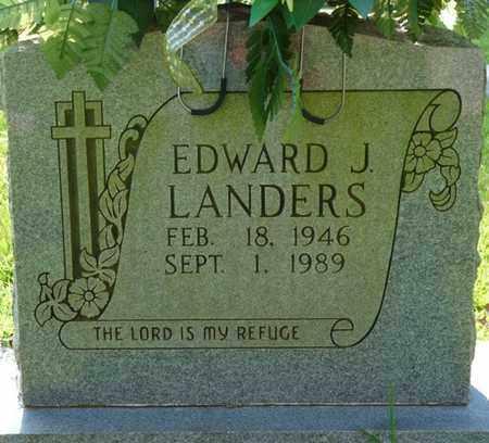 LANDERS, EDWARD J - Colbert County, Alabama | EDWARD J LANDERS - Alabama Gravestone Photos