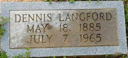 LANGFORD, DENNIS - Colbert County, Alabama | DENNIS LANGFORD - Alabama Gravestone Photos