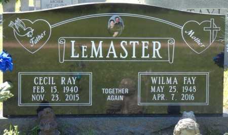 LEMASTER, WILMA FAY - Colbert County, Alabama   WILMA FAY LEMASTER - Alabama Gravestone Photos