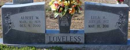 LOVELESS, ALBERT W - Colbert County, Alabama | ALBERT W LOVELESS - Alabama Gravestone Photos