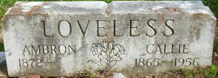 LOVELESS, CALLIE - Colbert County, Alabama | CALLIE LOVELESS - Alabama Gravestone Photos