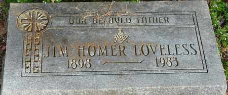 LOVELESS, JIM HOMER - Colbert County, Alabama | JIM HOMER LOVELESS - Alabama Gravestone Photos