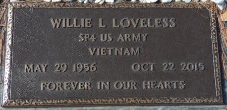 LOVELESS (VETERAN VIET), WILLIE LOUIS (NEW) - Colbert County, Alabama   WILLIE LOUIS (NEW) LOVELESS (VETERAN VIET) - Alabama Gravestone Photos
