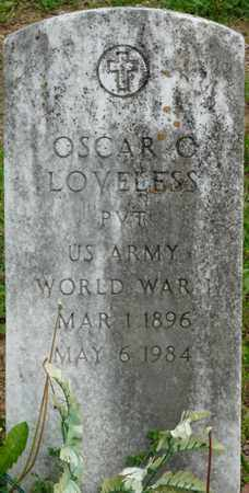 LOVELESS (VETERAN WWI), OSCAR C - Colbert County, Alabama   OSCAR C LOVELESS (VETERAN WWI) - Alabama Gravestone Photos
