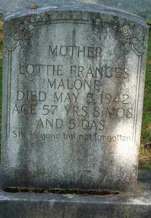 MALONE, LOTTIE FRANCES - Colbert County, Alabama | LOTTIE FRANCES MALONE - Alabama Gravestone Photos