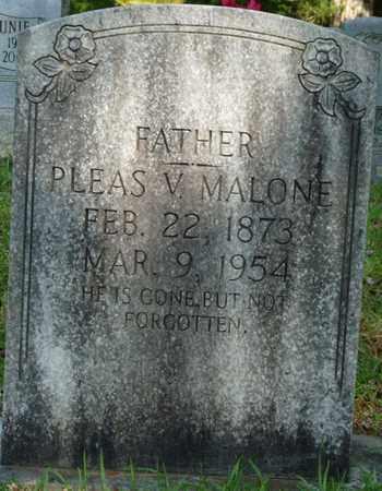 "MALONE, PLEASANT VINCENT ""PLEAS"" - Colbert County, Alabama   PLEASANT VINCENT ""PLEAS"" MALONE - Alabama Gravestone Photos"