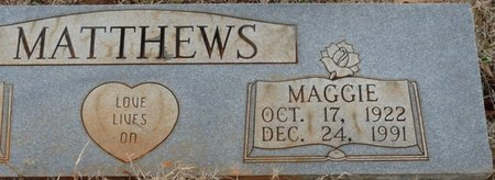 MATTHEWS, MAGGIE - Colbert County, Alabama   MAGGIE MATTHEWS - Alabama Gravestone Photos
