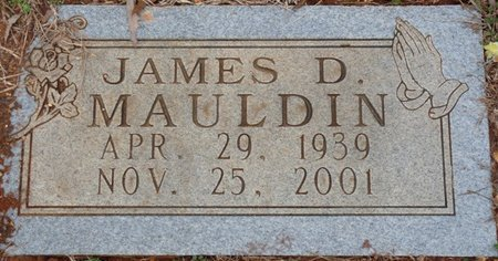 MAULDIN, JAMES D - Colbert County, Alabama | JAMES D MAULDIN - Alabama Gravestone Photos